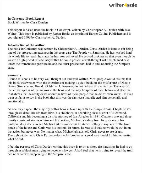 Write book report