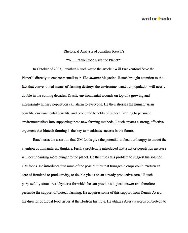 Essays for sale rhetorical analysis